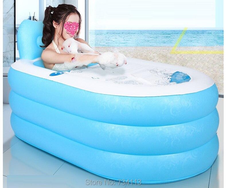Портативный надувная Ванна взрослых надувные ванна ведро бассейн утолщение ванны ведро ванна складной спа ванны