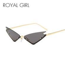 ec074411053a ROYAL GIRL Vintage Cat Eye Sunglasses Women 2018 Brand Designer Half Frame  Sun Glasses Men Rimless Mirror Eyeglasses UV400 ss890