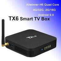 TX6 Android 9.0 TV Box Wifi Antenna 4G 32G Allwinner H6 Quad Core Smart Mini PC 4K Streaming Media Player 2GB 16GB Set Top Box