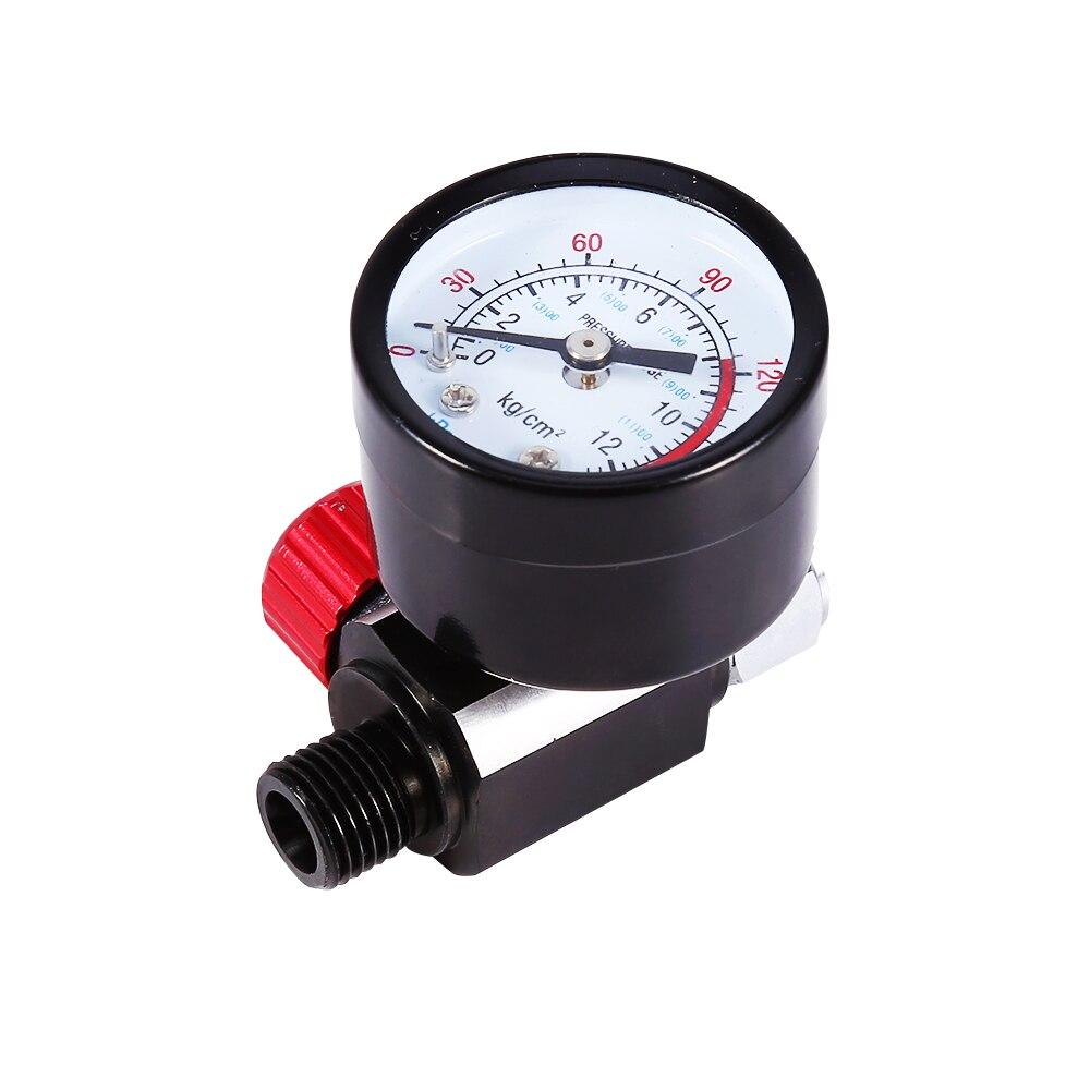 1/4 ''BSP HVLP Spray Airbrush Luft Regler Mit Manometer Membran Control Neueste Ankunft Auto-Styling