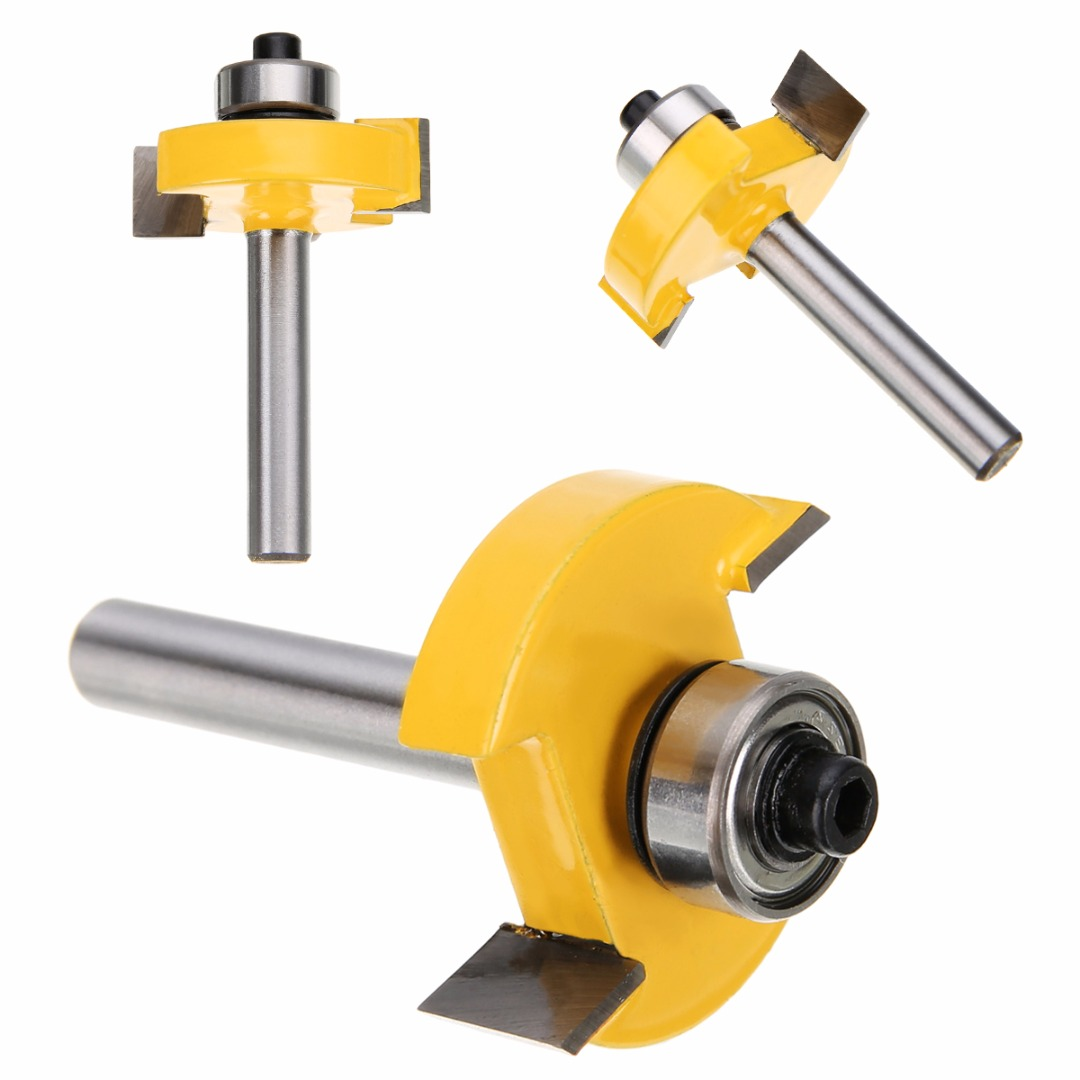 цена на High Quality 3/8 T-slot Slotting & Rabbeting Router Bit 1/4 Shank For Woodworking Cutter Tool
