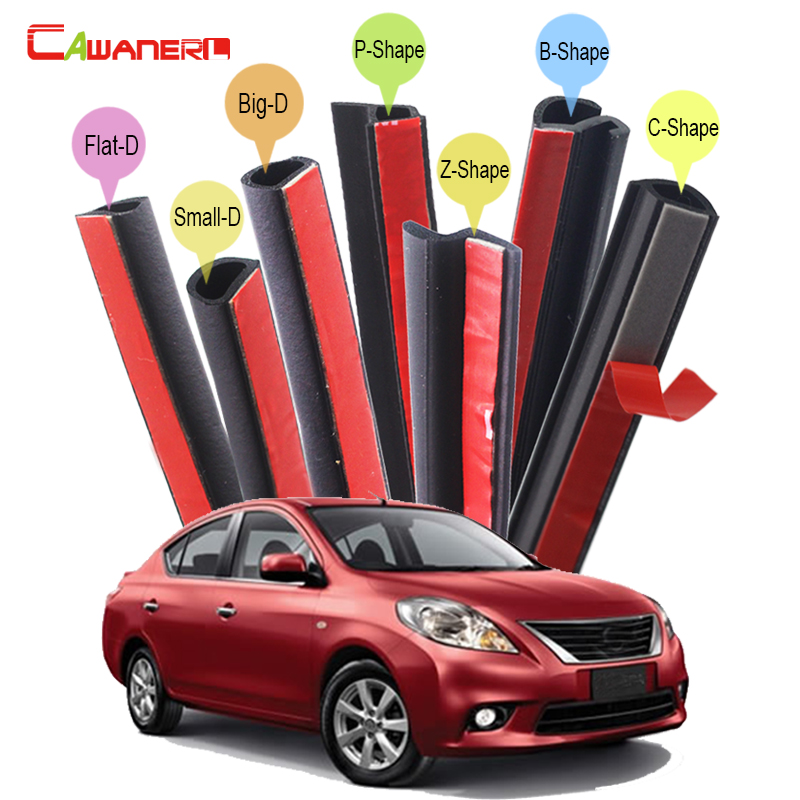 Cawanerl For Nissan Almera Tino Cube Juke Qashqai Car Seal Sealing Strip Kit Rubber Seal Edge Trim Weatherstrip Sound Control