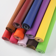 Pure Coloured Litchi Pattern PU Leather Fabric Small Pebbled Faux Artificial Synthetic DIY Sewing Bag Material