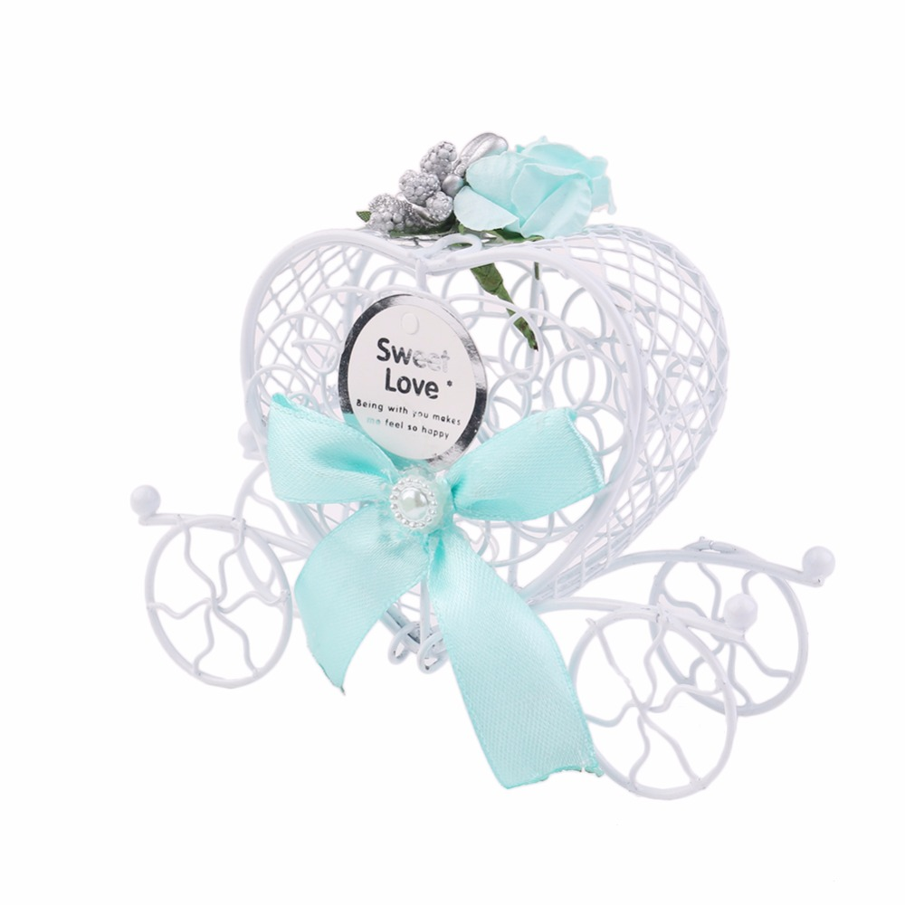 1pcs Cinderella Carriage Candy Chocolate Boxes Birthday Party ...