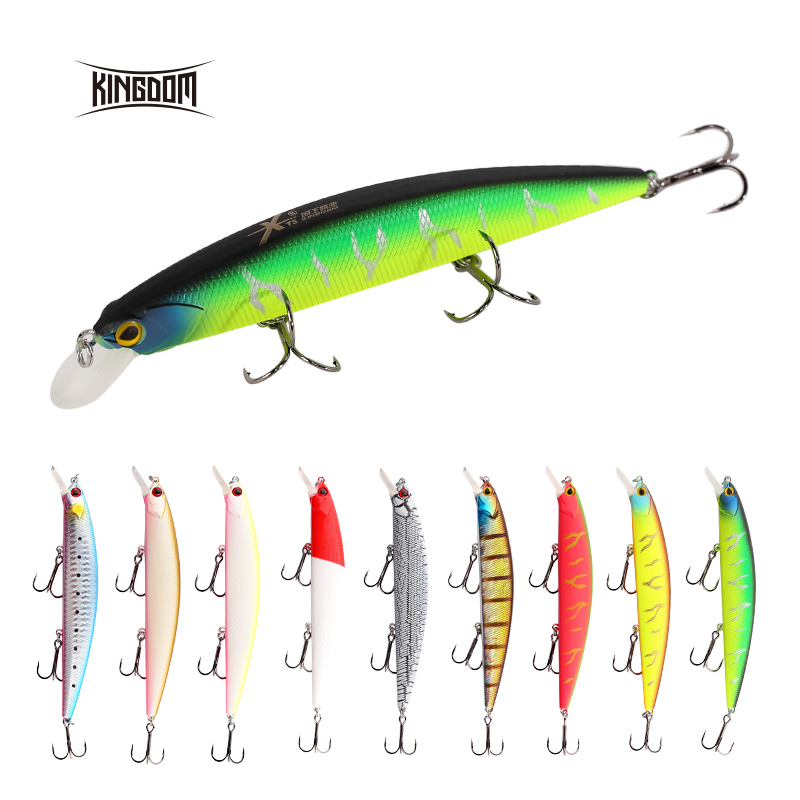 Kingdom Fishing Lure Wobblers Jerkbait 130mm 20g Hard Bait Depth 0.8-1.5m Sea Fishing Minnow Bait With Strong Hooks Model 3523N