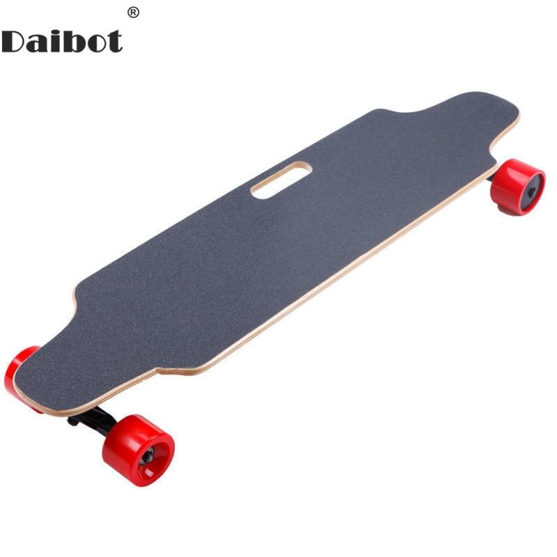Daibot trottinette électrique Planche À Roulettes 4 Roue trottinette électrique s double moteur 300 W 24 V 25 KM/H Électrique Skateboard cruiser Pour Adultes