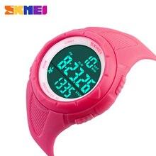 SKMEI Running Sports Wristwatches Women Pedometer LED Digital Watches 50M Waterproof Alarm Calendar 1108