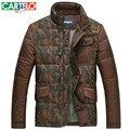 Cartelo/marca Fino 90% de Pato dos homens Camuflagem Cor Hit Colarinho Jaquetas De Negócios Casuais Para Baixo Casaco de Inverno Casaco Grosso