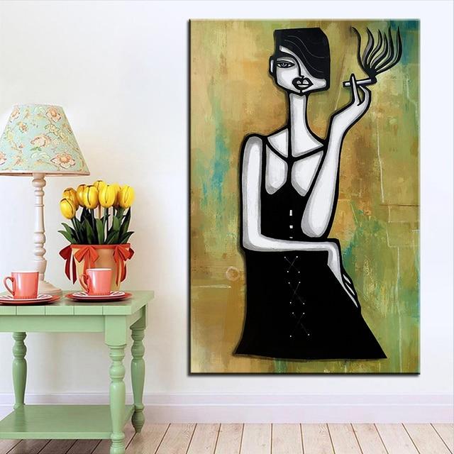 Ukuran Besar Pencetakan Minyak Lukisan Dinding Gambar Seni Steampunk Kebiasaan Buruk Untuk Ruang Tamu