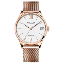 Agelocer Luxury Brand Rose font b Gold b font Watches for Men Ultra Thin Case Waterproof