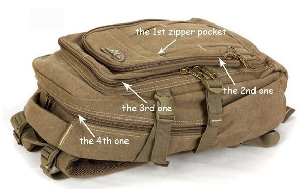 Man's Canvas Backpack Travel Schoolbag Male Backpack Men Large Capacity Rucksack Shoulder School Bag Mochila Escolar 7