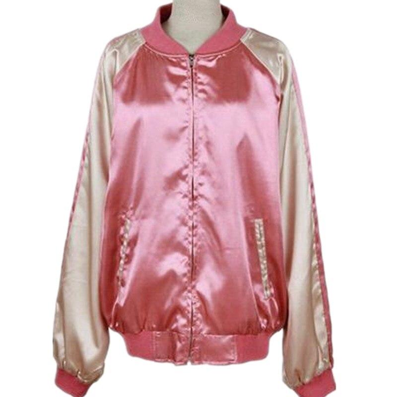 mujeres de la chaqueta de moda chaqueta de uniforme de Béisbol bf sueltas color