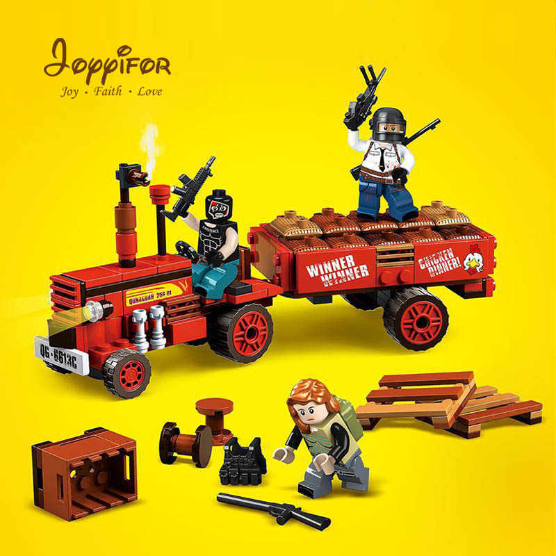 Joyifor PUBG игровой плеер Battlegrounds военный Kar98 шлем оружие строительные блоки наборы дети классический поезд LegoINGlys игрушки