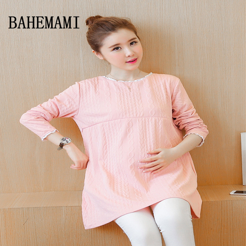 BAHEMAMI Maternity Nursing Dress For Pregnant Women Clothing 2018 spring cotton Breastfeeding Skirt Pregnancy Clothes Lactation