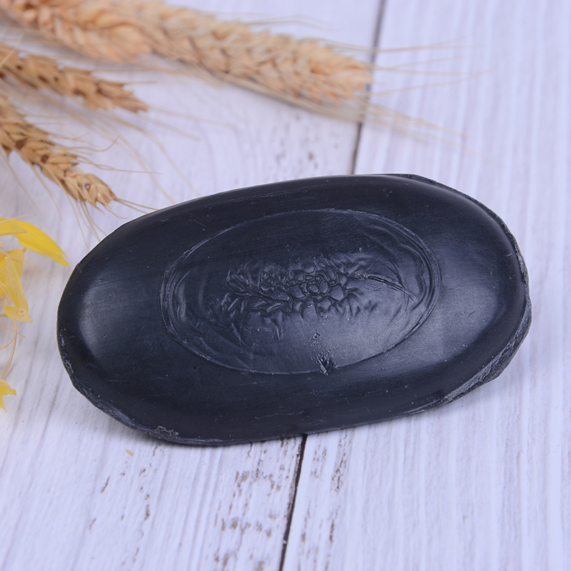 1Pcs Bamboo Charcoal Soap Face&Body Clear Anti Bacterial Lighten Freckles Beauty&Health Care Tourmaline Soap Active Energy