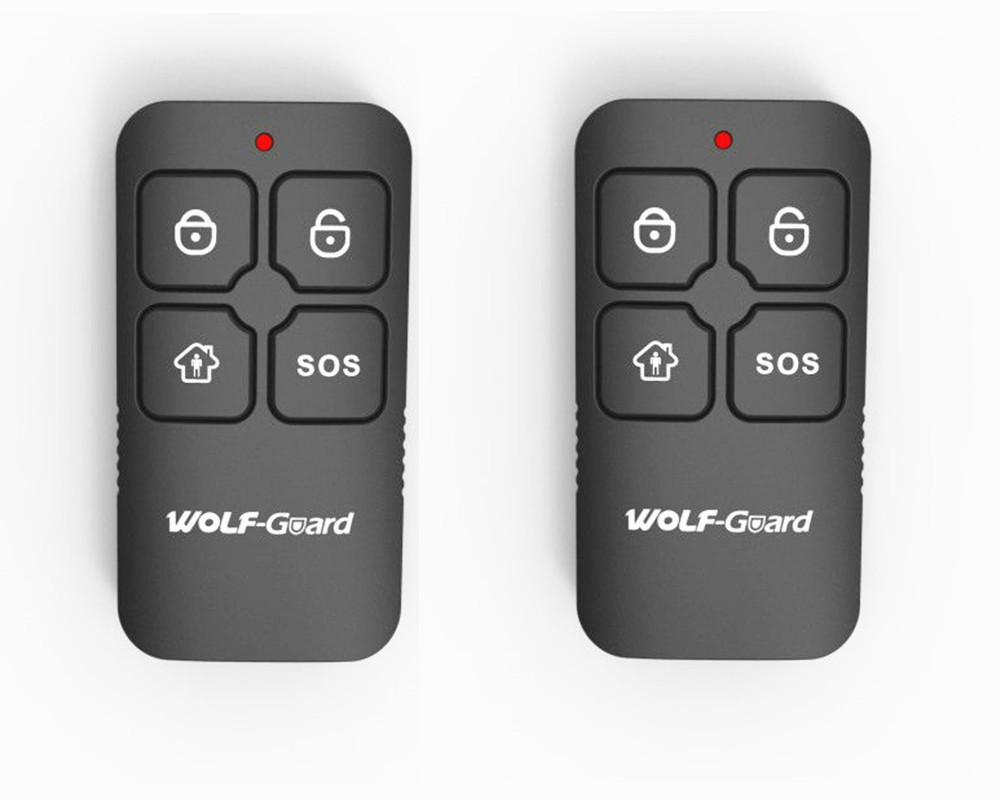 2pcs Wolf-Guard 433MHz Wireless Waterproof Black RF 4 Keys Remote Control Keyfobs For Home Alarm Sceurity System YK-11