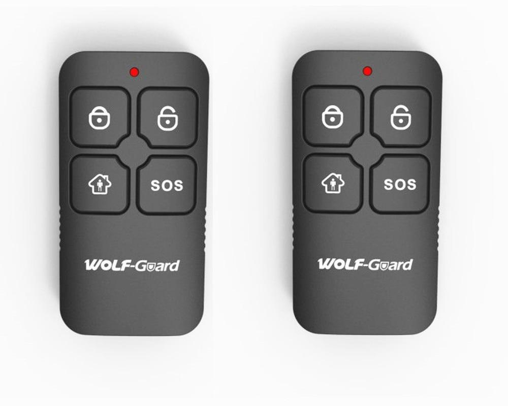 2pcs Wolf-Guard 433MHz Wireless Waterproof Black RF 4 Keys Remote Control Keyfobs for Home Alarm Sceurity System YK-112pcs Wolf-Guard 433MHz Wireless Waterproof Black RF 4 Keys Remote Control Keyfobs for Home Alarm Sceurity System YK-11