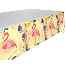 1pcs 1.8*1.08m Flamingo theme tablecloth party supplies plastic tablecover for kids birthday Party decoration