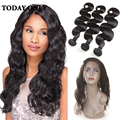 10A Grade Brazilian Body Wave 360 Lace Frontal With Bundle 3 Bundles With Closure Soft 360 Lace Frontal Closure With Bundles