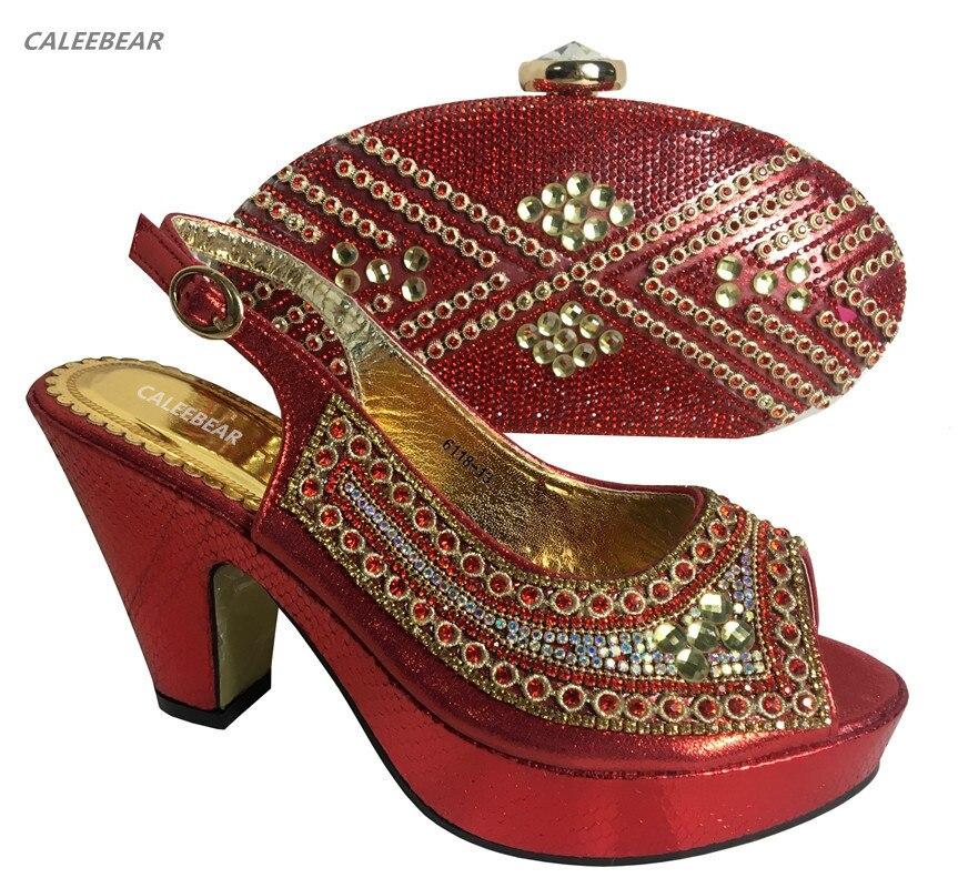 Chaussures Pour As Le Et New as Ensemble Dames Cristal Picture Italien Avec Picture Nouveau Assorti Sac Design 2018 Rouge African Parti qxwCEgTCY