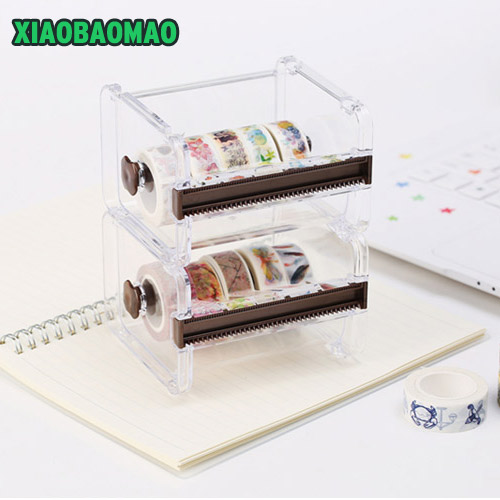 Japan premium masking tape cutter eco-friendly high quality tape dispenser for handcraft decoration 3pcs lot brand new japan premium 6mm 8m mini double sided tape high quality tape suitable for cards notebook wrapping crafework