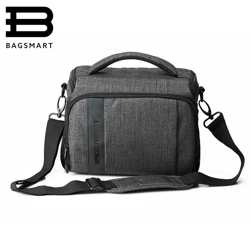 BAGSMART DSLR Camera Messenger Bag Case For Canon 40D 50D 60D 700D 600D 500D 550D 5D2 Nikon D90 D7000 D3000 D3300 D3100 D5000 tc n3 1 1 lcd camera timer remote controller for nikon d90 d5000