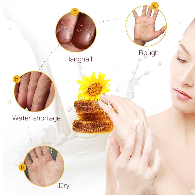 LAMILEE Honey Milk Hand Cream Anti-Dryness Moisturizing Anti-chapping whitening Hand care 30g Hydrating for Winter Repair 3