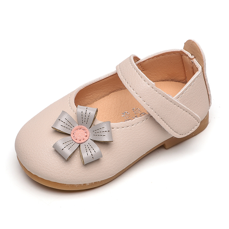 COZULMA Baby Girls Princess Flower Shallow Casual Shoes Fashion Kids Flats Children Hook & Loop Soft Sole Baby Shoes Size 15-30