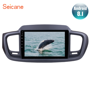 Seicane Android 9.1 10.1 Inch HD 1024*600 2Din Car GPS Navigation Radio Multimedia Player For 2015 KIA SORENTO With Mirror link image
