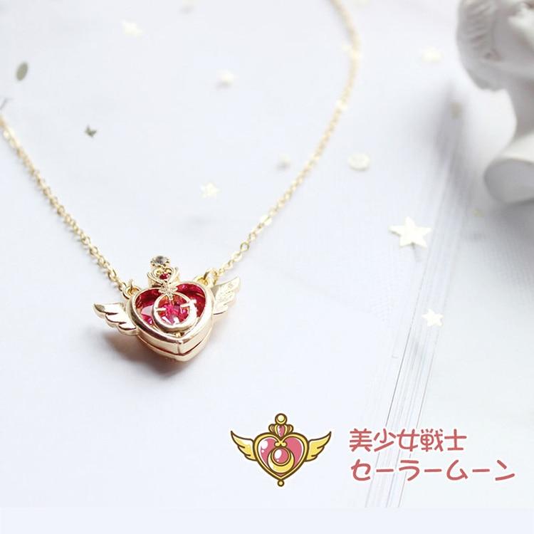 Аниме Сейлор Мун любовь палочка Кристалл косплей ожерелье девушка аксессуары симпатичный реквизит