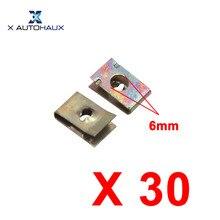 X Autohaux 30Pcs Hole Diameter 6Mm 0 24 inches Hole Dia Metal Retainer Car Door Pannel