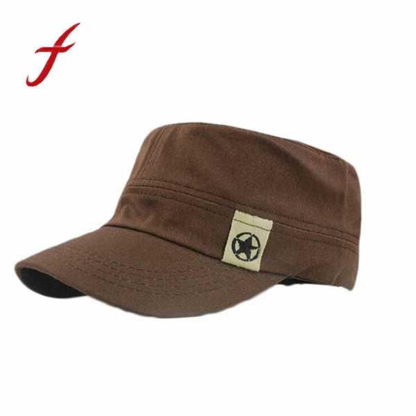 2017 новая модная мужская шляпа унисекс женская мужская плоская крыша Военная шляпа кадетский патруль широкополая шляпа бейсбольная Бейсболка Snapback Повседневная Кепка s