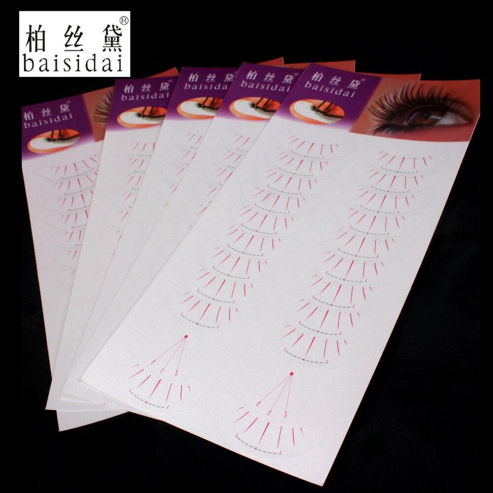 baisidai 50 Pairs Eyelash Lashes Individual Extension Tool Supply Silk Matte Surface Tape