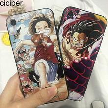 ciciber 3D Relief One Piece Monkey D. Luffy Cover For iPhone 7 8 6 6s Plus X XR XS MAX Phone Case Silicone Hard PC Hybrid Coque