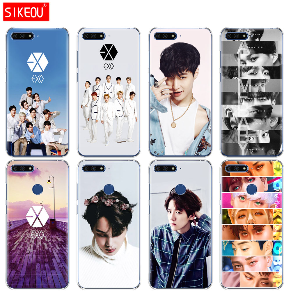132dd Kpop Exo Lucky One Hard Transparent Cover Case For Huawei P8 P20 Honor 9 Lite Mate 10 Pro Y6 Y5 2017 Clients First Phone Bags & Cases Cellphones & Telecommunications
