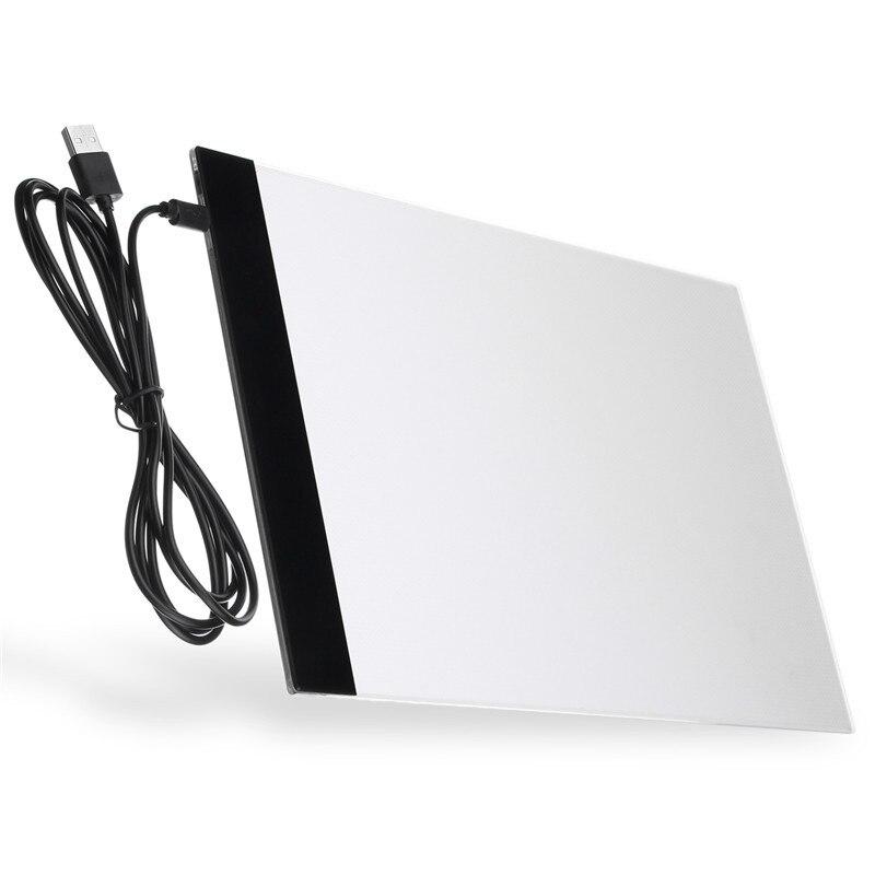 A4 LED Artiste De Tatouage Stencil Bord Boîte à Lumière USB Nuit Lumière Lampe Acrylique Traçage Planche à Dessin Pad Table DC5V 1A