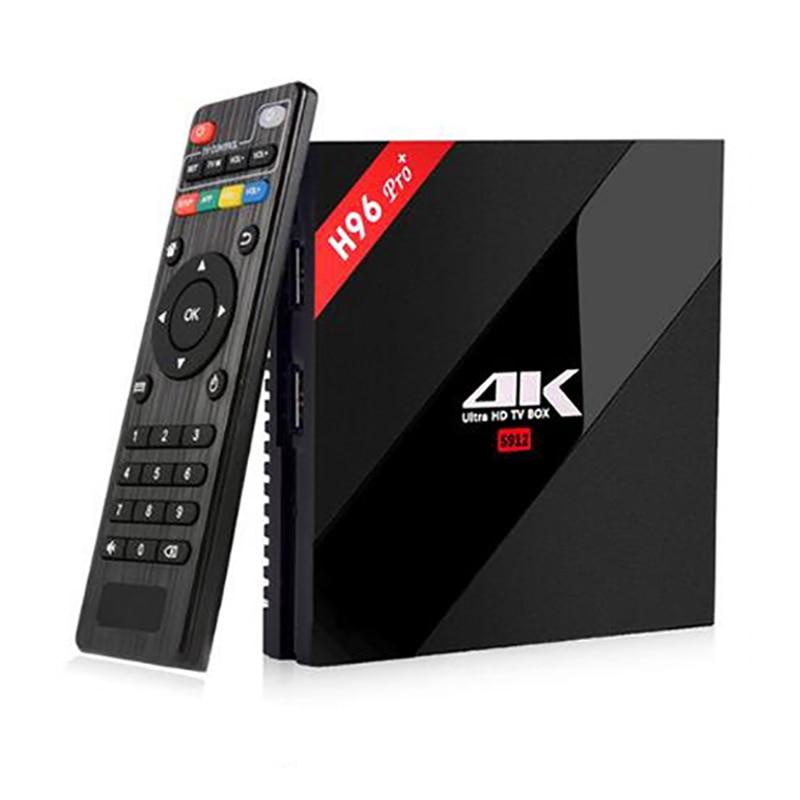 H96 Pro+ Android 7.1 TV Box Amlogic S912 Octa Core 3G RAM 32G ROM Bluetooth 4.0 Dual Wifi Kodi Ethernet 1000M 4K Smart TV zidoo x6 pro wifi android tv box oversea versions hd 4k 2k h 265 rk3368 bluetooth xbmc unblock kodi 2g 16g 3d octa core 1000m