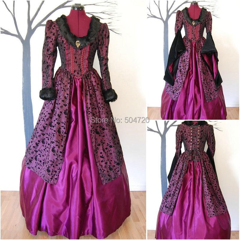 R 828 Vintage Costumes 1860s Civil War Southern Belle Ball wedding Dress/Gothic Lolita Dress Victorian dresses