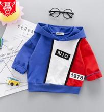 Купить с кэшбэком 2019 Spring New Arrival Kids Clothes Korean Fashion Color Match Children Hoodie Baby Clothes for 0-4 Year Old SY-F191003