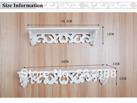Home Decoration 2pieces/lot Rack Stands No paint eco-innovative special pastoral simplicity word carved flower wall shelf racks