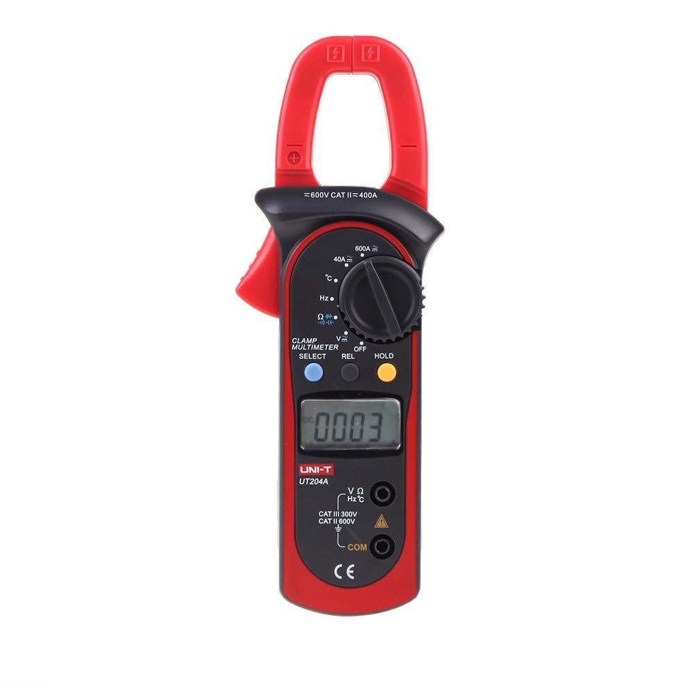 10pcs/LOT UNI-T UT204A Digital Handheld Clamp Multimeter Tester DMM Voltmeter Amp AC DC Frequency and Temperature Measurment uni t ut204a lcd digital clamp multimeter