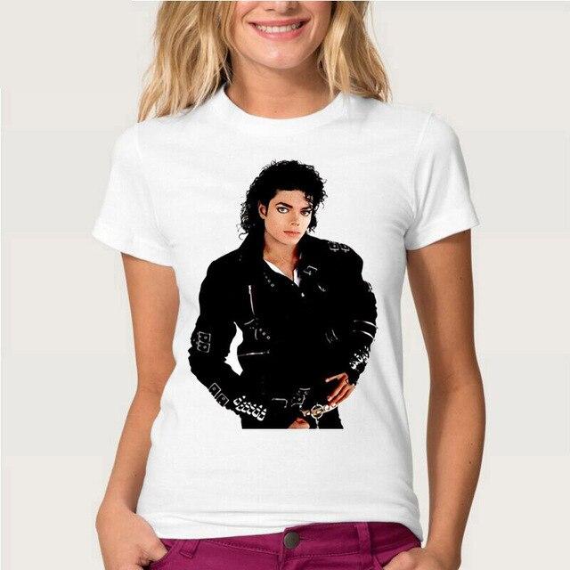 46aa415149df 2016 nueva moda de verano te acuerdas de Michael Jackson Camiseta las  mujeres 100% de Algodón de Manga Corta T Shirt de Impresión de Película ...