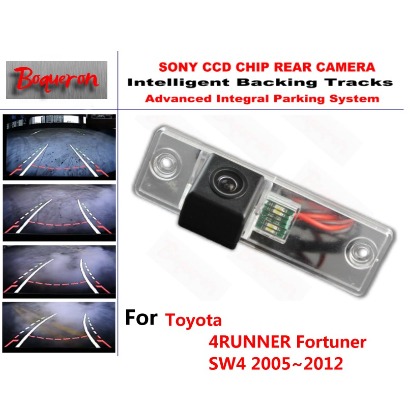 Car Rear View Backup Reverse Parking Camera For Toyota Fortuner Sw4 2005~2012 Vehicle Electronics & Gps