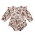 Flower Infant Toddler Baby Girl <font><b>Romper</b></font> Vintage Long Sleeve Neborn Girl <font><b>Romper</b></font> Jumpsuit Spring Autumn Baby Girl Clothing D15