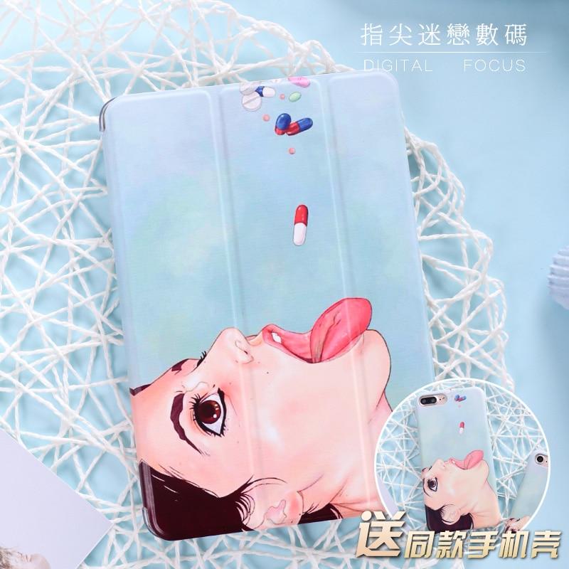 Funny Pill taking Flip Cover For iPad Pro 9.7 10.5 Air Air2 Mini 1 2 3 4 Tablet Case Protective Shell For New iPad 9.7 2017 держатели для туалетной бумаги blonder home держатель туалетной бумаги