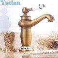Frete grátis contemporânea Concise torneira do banheiro Antique bronze finish latão bacia torneira da pia único punho torneiras de água YT5049