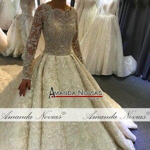 Image 5 - wedding dress 2020  full lace beading luxury sparkling wedding gown bridal dress