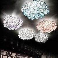 Современные потолочный светильник творческий лепестки цветка Книги по искусству Декор светодиодный потолочный светильник потолочный уст