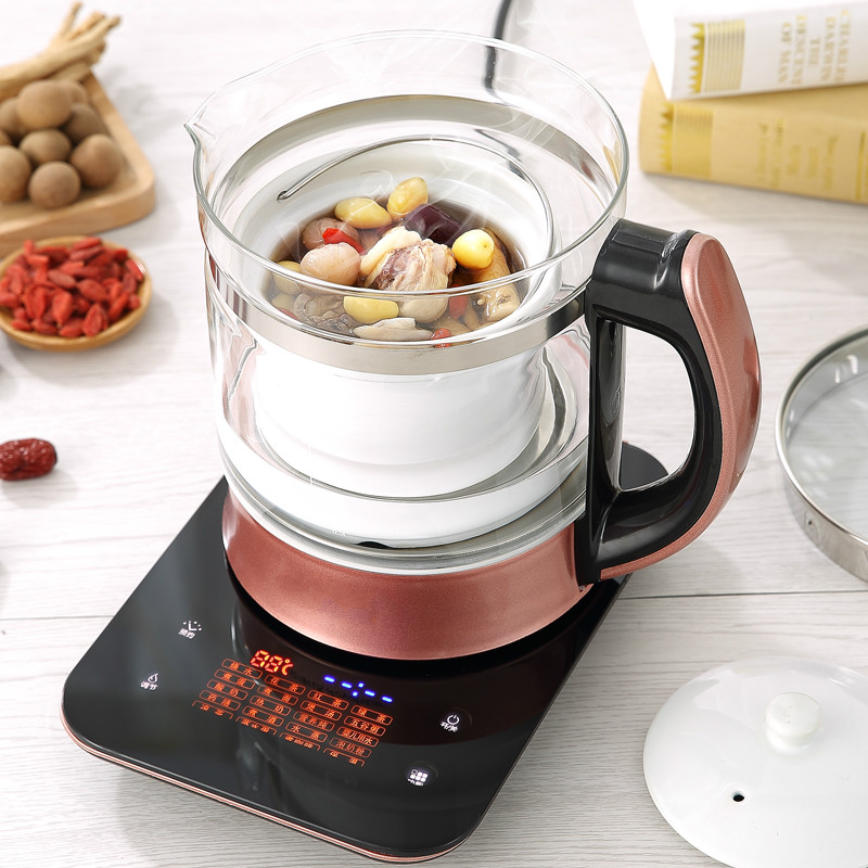 Electric kettle Bird's nest water stewing and raising pot, automatic thickened glass multi-function stewed Overheat Protection health raising pot is fully automatic and thickened glass