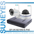 SunEyes SP-VK1821WD-E-POE 1080 P Full HD Câmera de CFTV IP NVR 2CH Kit com Wifi POE 1 pcs HD Bala IP Camera + 1 pcs HD Dome IP câmera